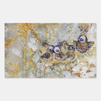Bluebirds en la colección del regalo del arte de pegatina rectangular