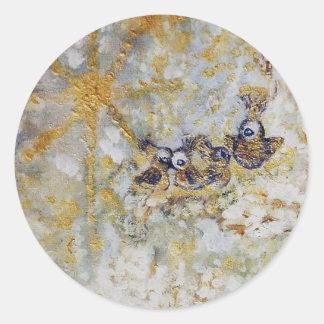 Bluebirds en la colección del regalo del arte de pegatina redonda