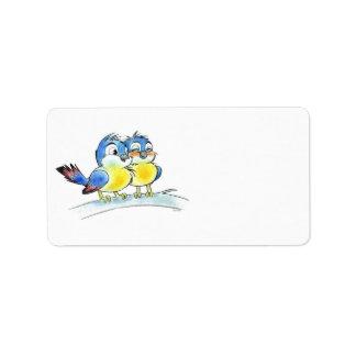Bluebirds Etiqueta De Dirección