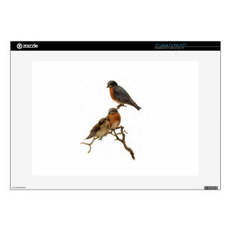 """Bluebirds Family Decal For 15"""" Laptop"""