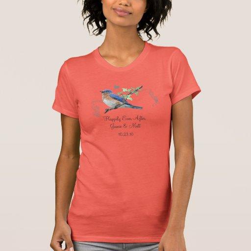 Bluebirds feliz nunca después de sola camiseta del playera