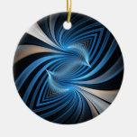Bluebirds Fractal Ornaments