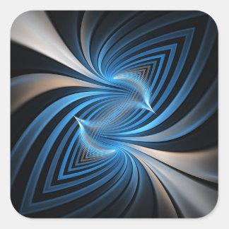 Bluebirds Fractal Square Sticker