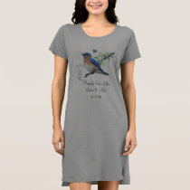 Bluebirds Happily Ever After  Single Bird Tee