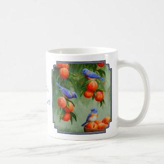 Bluebirds in a Peach Tree Orchard Coffee Mug