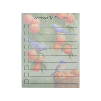 Bluebirds in a Peach Tree Orchard Notepad