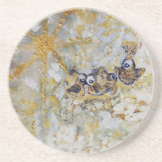 Bluebirds in the Snow Art Gift Collection Drink Coaster