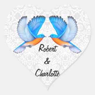 Bluebirds of Happiness Engagement Heart Stickerz Heart Sticker