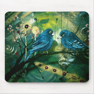 Bluebirds on a Branch Mouse Pad
