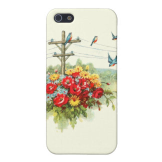 Bluebirds on Power Line iPhone SE/5/5s Case