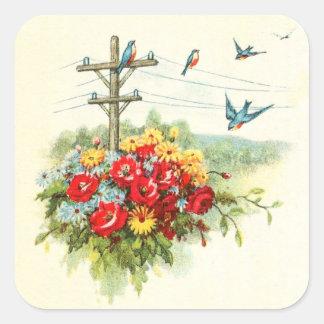 Bluebirds on Power Line Stickers
