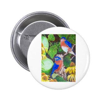 Bluebirds Pinback Buttons