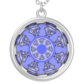 BlueBird's Summer Dance Round Pendant Necklace