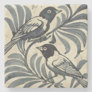 Bluebirds (w/c en el papel) posavasos de piedra
