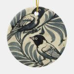 Bluebirds (w/c on paper) christmas tree ornament
