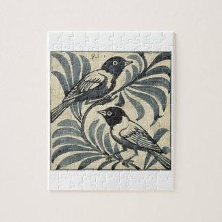 Bluebirds (w/c on paper) jigsaw puzzle