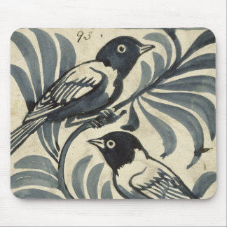 Bluebirds (w/c on paper) mouse pad