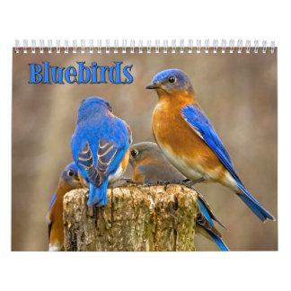 Bluebirds Wall Calendar