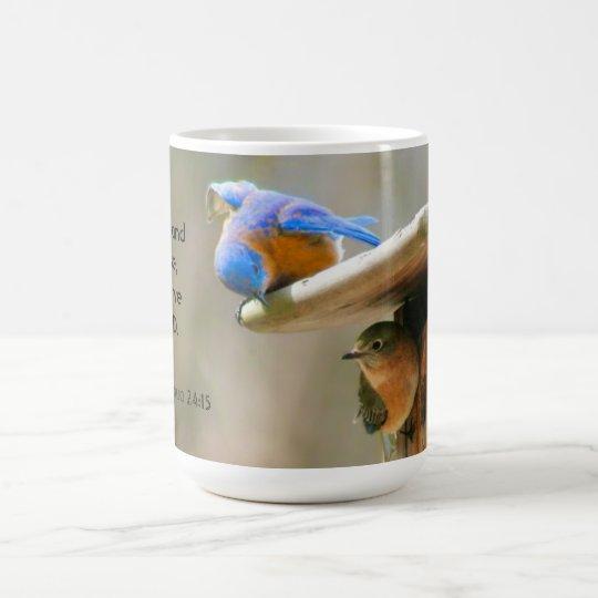 Bluebirds with Bible Verse Coffee Mug