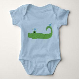 Bluebirds y cocodrilo body para bebé