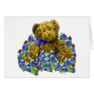 Bluebonnet Bear Greeting / Note Card