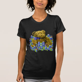 Bluebonnet Bear Ladies Dark T-Shirts