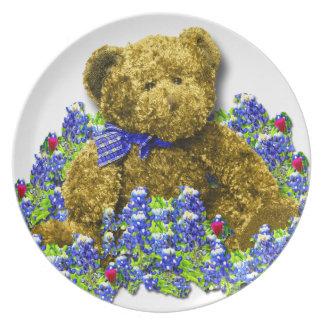 Bluebonnet Bear Plate