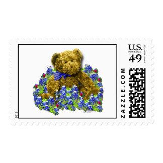 Bluebonnet Bear Postage Stamp