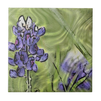 Bluebonnet Digital Painted China Tile
