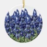 Bluebonnet Field Ornament
