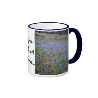 Bluebonnet Field phrase mug, small Ringer Coffee Mug