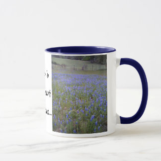 Bluebonnet Field phrase mug, small Mug