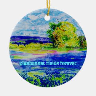 bluebonnet fields forever ceramic ornament