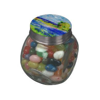 bluebonnet fields glass candy jars