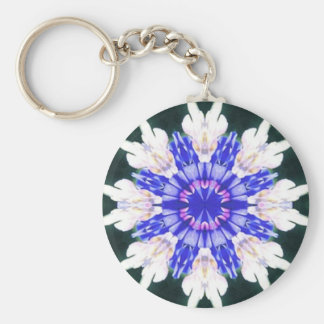 BlueBonnet Mandala Key Chain