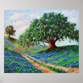"""Bluebonnet Road""  Print"