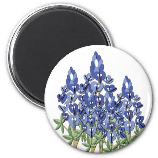 Bluebonnet Round Magnet