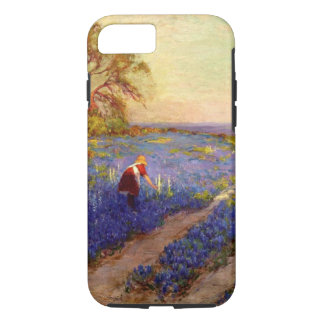 Bluebonnet Scene with Girl iPhone 8/7 Case