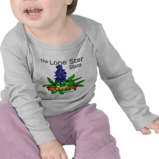 Bluebonnet solitario del estado de la estrella de camiseta