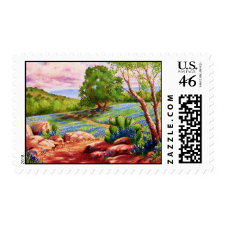 Bluebonnet Trail Postage Stamps