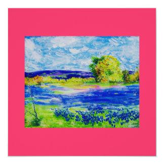 bluebonnet wild flowers card