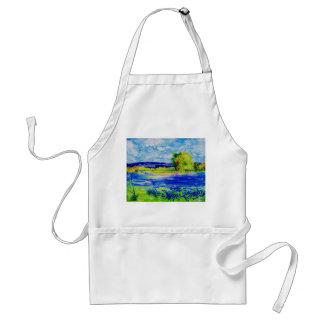 bluebonnet  wildflowers aprons