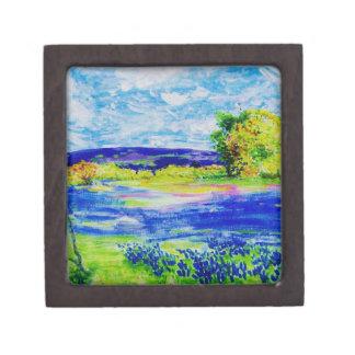 bluebonnet wildflowers art gift box