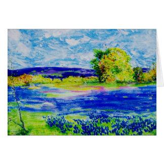 bluebonnet  wildflowers card