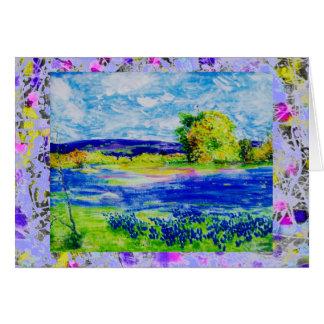 bluebonnet  wildflowers drip card