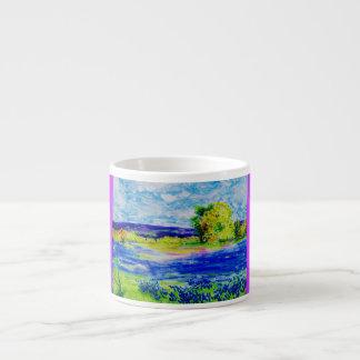 bluebonnet wildflowers espresso cup