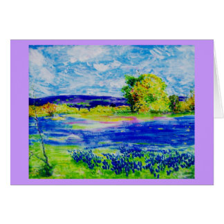 bluebonnet  wildflowers forever card