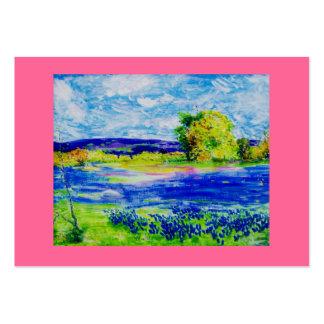 bluebonnet  wildflowers large business card