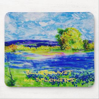 bluebonnet  wildflowers mouse pad