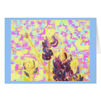bluebonnet wildflowers upclose(always flowers) card
